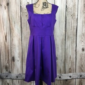 Calvin Klein Purple Sleeveless Swing Dress Size 12